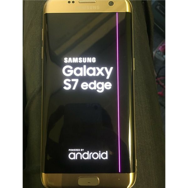 Gold Samsung Galaxy S7 edge