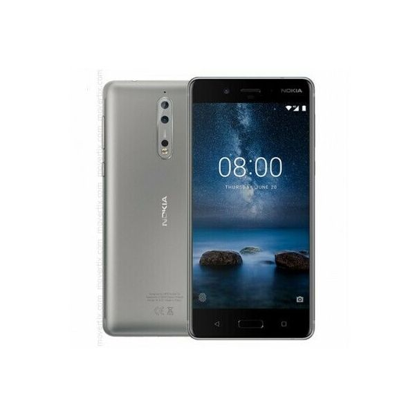 Nokia 8 - 64GB - Silver (Unlocked) Smartphone - Good Condition