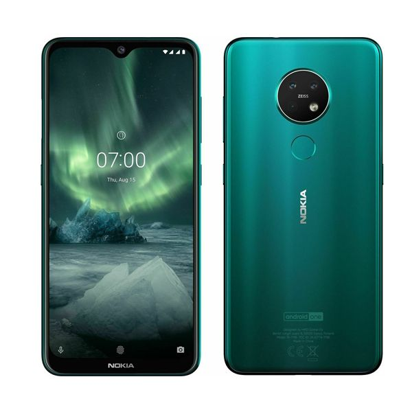 Nokia 7.2 (Dual SIM) - 64GB - Cyan Green (Unlocked) Smartphone - Grade A