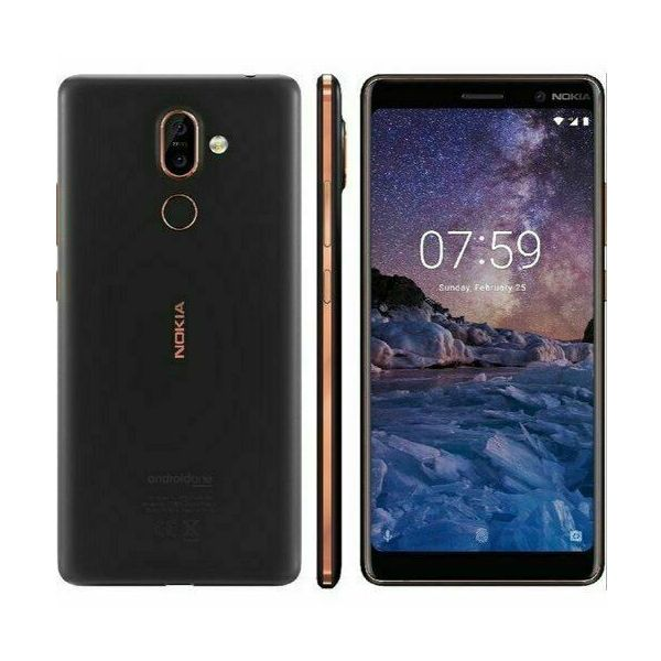 Nokia 7+ Plus - 64GB - Black/Copper (Unlocked) Smartphone