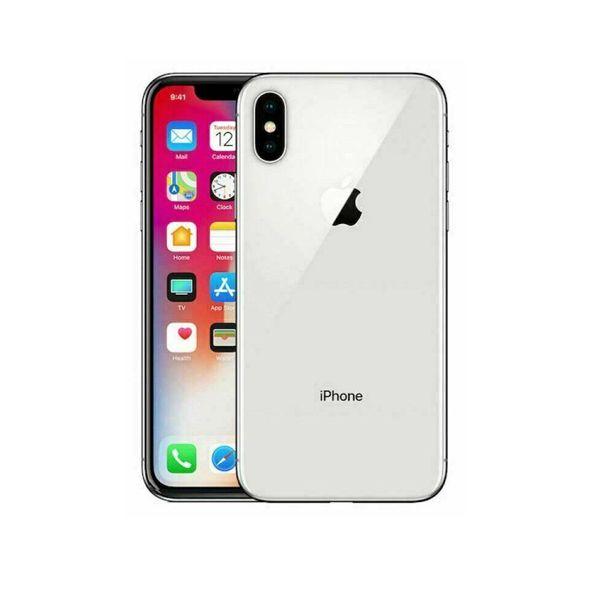 Apple iPhone X - 64GB - Silver (Unlocked) Smartphone
